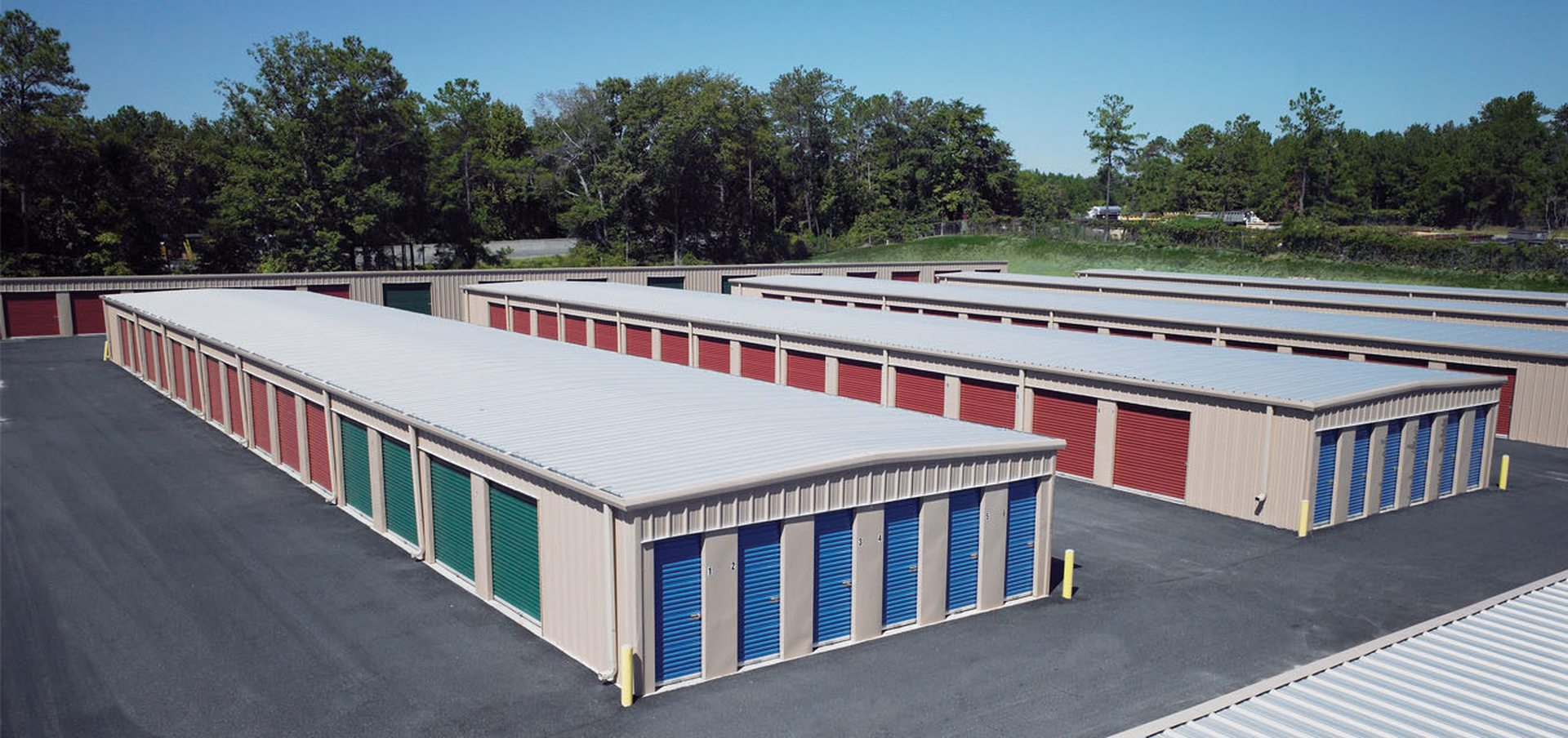 Self-Storage units using Butler pre-engineered steel construction
